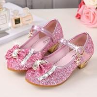 sepatu frozen pink/sepatu anak/sepatu anak glitter/sepatu elsa anna