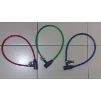 B73 Kunci Gembok Ban Sepeda Bicycle Lock Motor Murah Bonus Kunci 2pcs