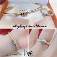 titanium gelang cincin wanita 4l52