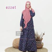 Baju muslim gamis syari wanita terbaru Ezzet E 03 - Gamis busui satin