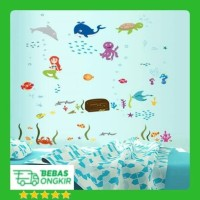 WALLSTICKER 60X90 FISH SEA WORLD KIDS IKAN KAMAR MANDI WALL STICKER DI