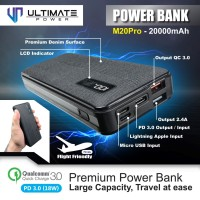 Ultimate Power M20 PRO QC+PD Fast Charging Powerbank 20000mAh