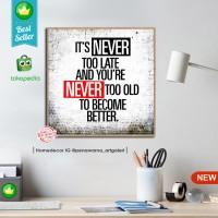 quotes home AF home decor hiasan pajangan dinding poster decor kayu