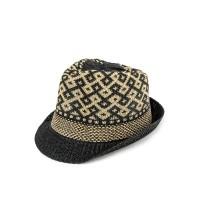 Urban State - Wool Crochet Trilby Hat - Black