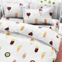 Krishome 120x200+30 Cm Set 4 Pcs Seprai & Bed Cover Anak Ice Cream - P