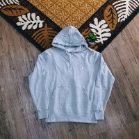 Champion Basic Small C Embroidered Logo Pullover Hoodie Grey