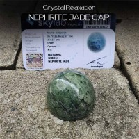 Crystal Healing Relaxation Nephrite Jade Cap (BC122)