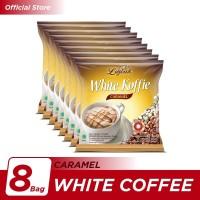 Kopi Luwak White Koffie Caramel Bag 5x20gr - 8 Pcs