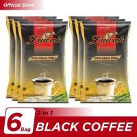 Kopi Luwak Plus Gula Tebu Black Coffee Bag 10x25gr - 6 Pcs