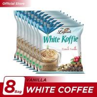 Kopi Luwak White Koffie French Vanilla Bag 5x20gr - 8 Pcs