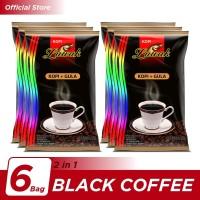 Kopi Luwak Plus Gula Black Coffee Bag 10x25gr - 6 Pcs