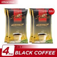 Kopi Luwak Plus Gula Tebu Black Coffee Bag 10x25gr - 4 Pcs