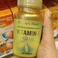 Vitamin E.Natures health.. vitamin E nature health isi 100