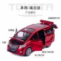 miniatur Diecast 1/32 1:32 mobil Toyota Alphard Vellfire mainan anak