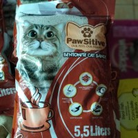 Pasir kucing wangi bentonite Pawsitive 5.5 ltr no pasir kawan markotop