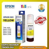 Tinta Epson 003 Yellow 100% Original untuk Epson L3110 & Epson L3150