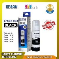 Tinta Epson 003 Black 100% Original untuk Epson L3110 & Epson L3150