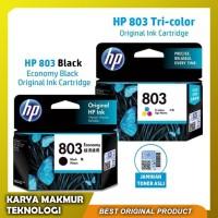 1 Set Tinta HP 803 Black & Tri-color Original Ink Cartridge