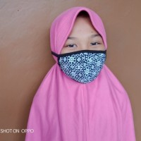Masker Kain untuk Anak 2 lapis kain Tali panjang