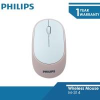 Deskripsi Philips Mouse Wireless 2.4 GHZ M-314 Peach