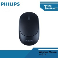Deskripsi Philips Mouse Wireless 2.4 GHZ M-314 Black