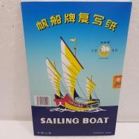 Carbon Paper / Kertas Karbon Folio Double Side Sailing Boat