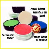 Pomade Oilbased Non Label Pot Plastik