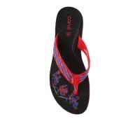 Sandal Sponge Wanita Carvil Mavis Black red