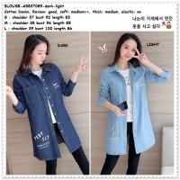 Baju Atasan Kemeja Denim Wanita Korea Import AB837089