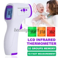 LCD Digital Forehead Body Temperature Meter Non-contact IR Infrared