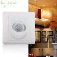bou^✡Infrared IR Body Motion Sensor Auto Wall Mount Control Led