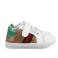 Sepatu sneakers Anak unisex bahan sintetis perekat putih velcro