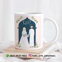 JUAL MUG KADO PERNIKAHAN - KADO WEDDING - MUG COUPLE MURAH PEKANBARU