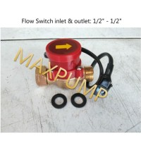 "Water Flow Switch 1/2"" - 1/2"" (Saklar Otomatis Pompa Air) Brass Switch"