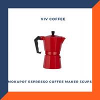 Moka Pot / Espresso Coffee Maker / Mokapot 3cups Red