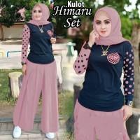 Baju Setelan Celana Kulot Muslim Himaruk Wanita