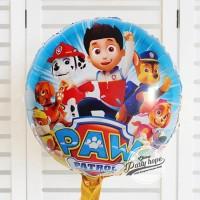 balon bulat paw patrol / balon foil bulat paw patrol / balon karakter