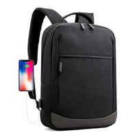 Techdoo Tas Ransel USB Laptop Pria Parasut Backpack Anti Air TR502