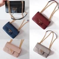 Prada Flap Bag Saffiano 22 cm Nude, Black, grey, blue, red bordeaux