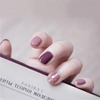 24pc Kuku Palsu / Fake Nails / Nailart Plus LEM Ungu Pink
