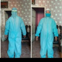 baju APD hazmat bahan parasut bisa dicuci