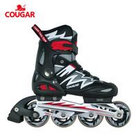 Sepatu Roda Anak Inline Skate Cougar MZS835L Hitam Putih - S