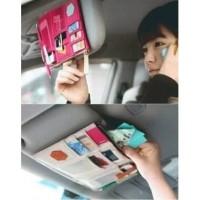 B93 Sun Visor Mobil Car Organizer Tempat Uang ,Kartu, HP, Tiket ToL