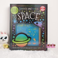 Buku Aktivitas Activity Book Books - Scratch and Reveal Space box set