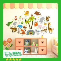 WALL STICKER ANIMAL HEWAN ANAK ZOO STIKER DINDING SK9296