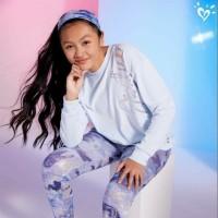 Sweater anak perempuan merk justice sisa ekspor (ungu bludru)