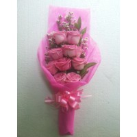 jual bunga mawar asli bentuk buket di bandung