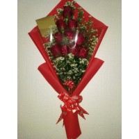 jual bunga buket mawar di bandung