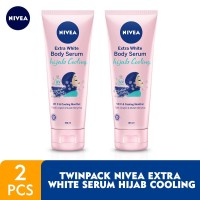 NIVEA Extra White Body Serum Hijab Cooling 180ml - Twin Pack
