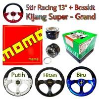 Setir Racing Mobil Kijang Super - Grand Stir Momo 13 Inch plus Bosskit